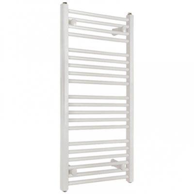 Kúpeľňový radiátor SOLID 600 x 940 biely, rovný, rebríkový radiátor, 600x940 flat