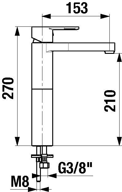 MIO Umývadlová stojančeková batéria