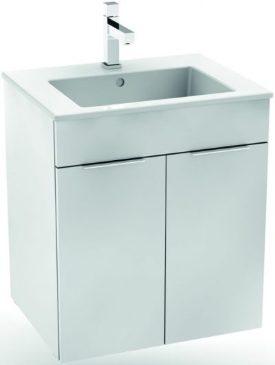 CUBE skrinka s umývadlom 55cm biela