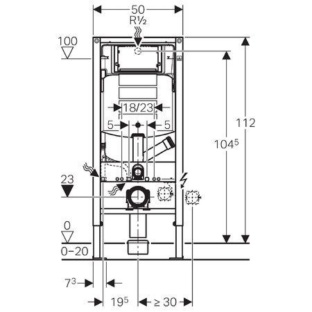 Inštalačný modul Duofix pre závesné WC s nádržkou Sigma 12 cm s prípravou pre odsávanie zápachu  111.367.00.5