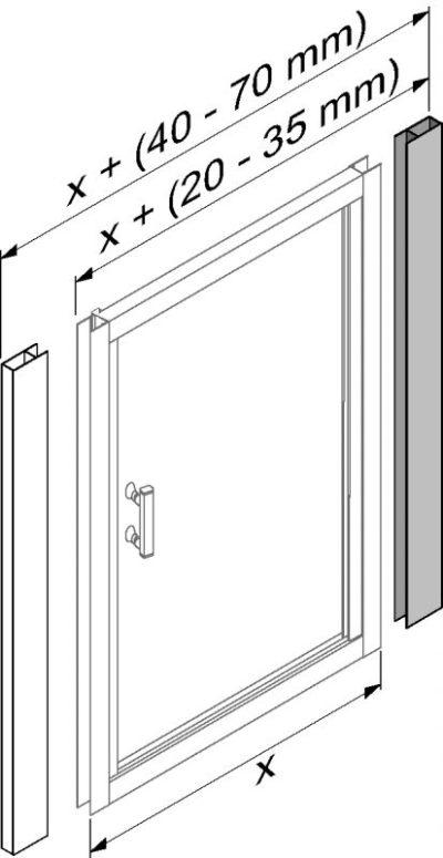 CUBITO PURE rozširovací profil pre kúty,dvere
