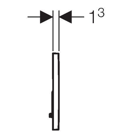 Ovládacie tlačidlo biele SIGMA01   115.770.11.5