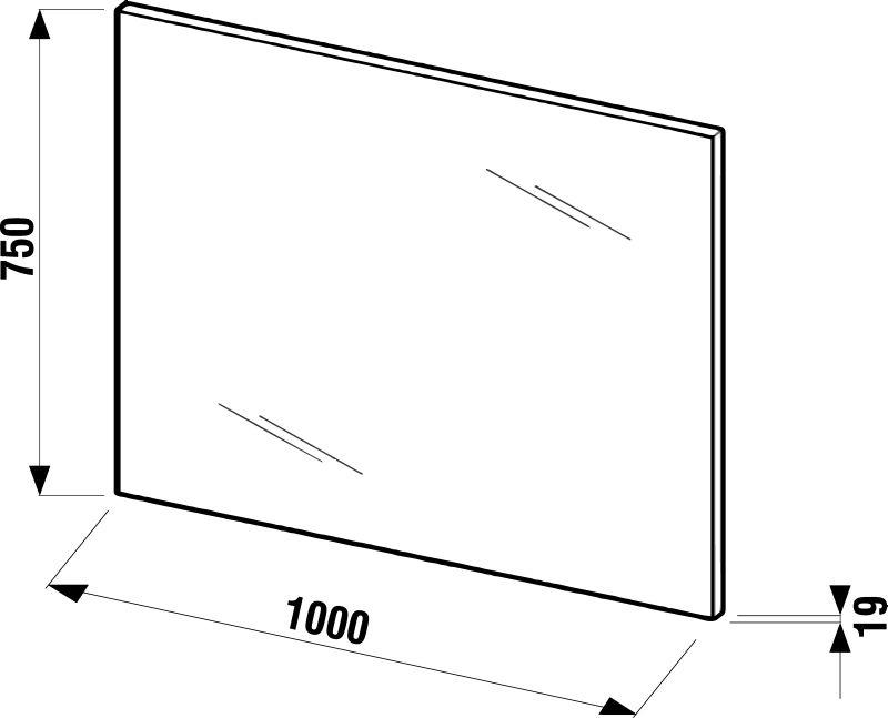 ZETA zrkadlo 100X75cm biele