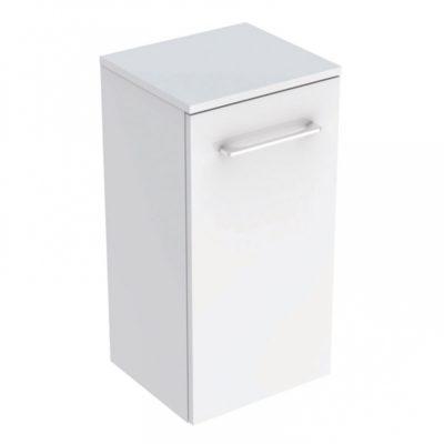 Bočná skrinka Geberit Selnova Square s jednými dvierkami, pre nábytkové umývadlo, úzky okraj  501.272.00.1