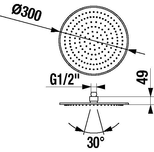 CUBITO-N hlavová sprcha  ∅300 mm