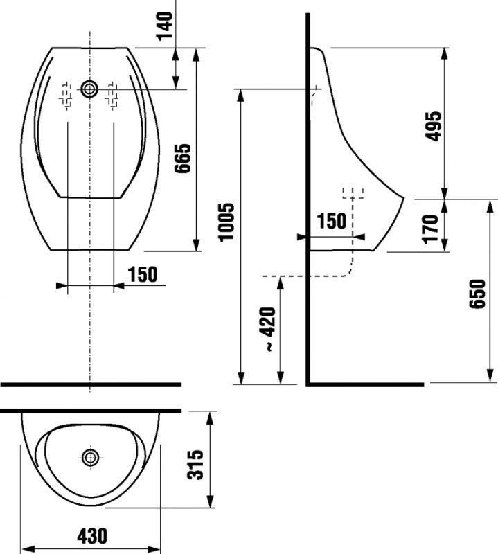 DOMINO urinál