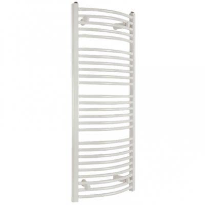 Kúpeľňový radiátor SOLID 500 x 1180 mm, biely, oblý, rebríkový radiátor, 500x1180 curved