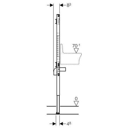 Inštalačný modul Duofix pre výlevku, pre nástennú batériu, univerzálne pripojenie vody