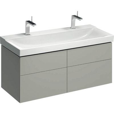 Skrinka Geberit Xeno² pod umývadlo so šírkou od 120 cm, so š