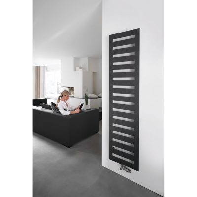 Kúpeľňový radiátor Zehnder METROPOL 1225x500 ČIERNA