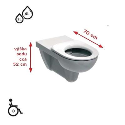 NOVA PRO BEZ BARIÉR závesné WC pre telesne postihnutých