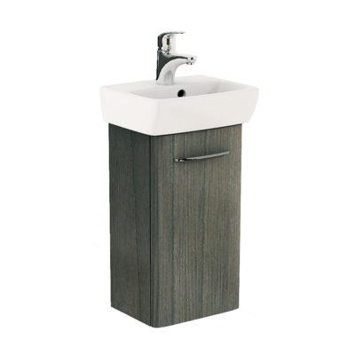 NOVA PRO Skrinka s umývadlom 36 cm, sivý brest