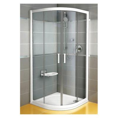 Sprchovací kút štvrťkruhový posuvný matný hliník  NRKCP4 -100