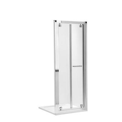 GEO-6 skladacie dvere 90 cm do niky alebo do kombinácie, číre