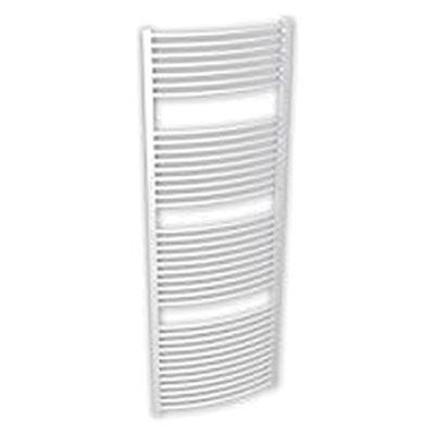 Kúpeľňový radiátor SOLID 600 x 1180 mm, biely, oblý, rebríkový radiátor, 600x1180 curved