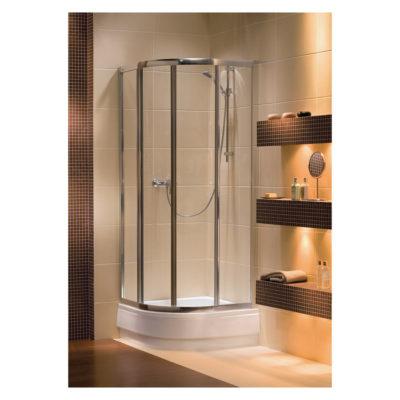 Sprchovací kút 80 x 80 cm štvrťkruhový Akord RKPG80222005