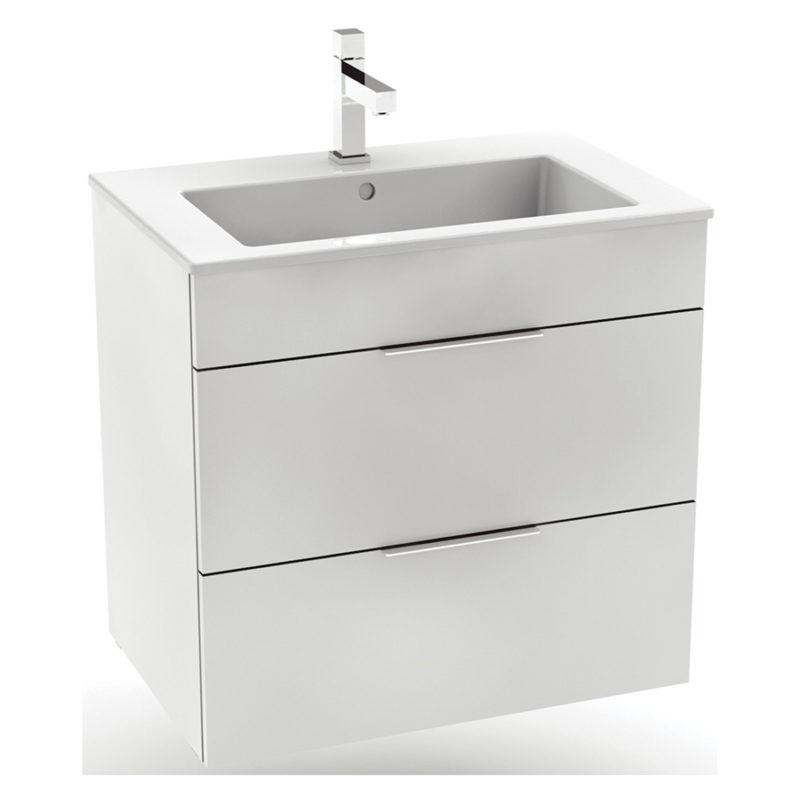 CUBE skrinka s umývadlom 65cm biela