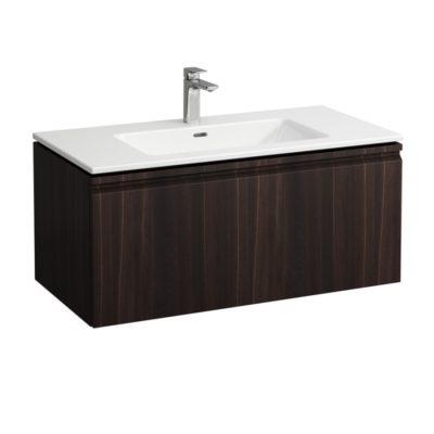 Laufen Pro S - Skrinka vrátane umývadla, 1000 mm x 500 mm – farba wenge H8609664231041