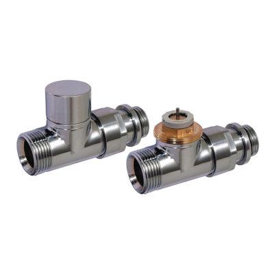 Set-priamy ventil a regulačné šrúbenie chróm D3805-C