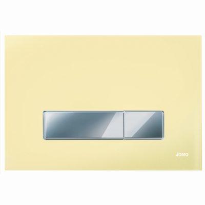 Ovládacie WC tlačidlo JOMO AMBIENTE sklo béžové, chróm/chróm